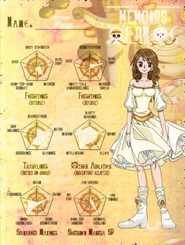 One Piece OC - Fuu Abilities Chart