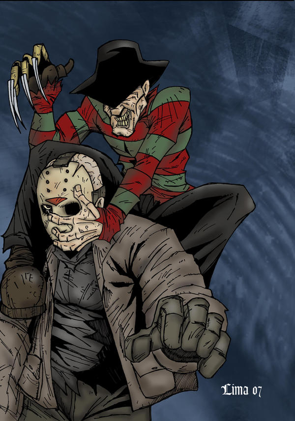 Freddy vs Jason by zombiezeroarthouse