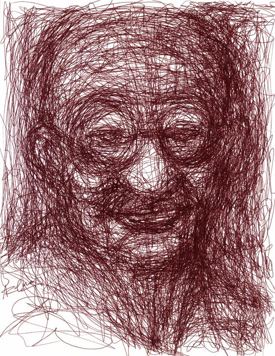 Gandhi en rayones by Pachecon