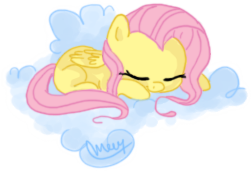 Fluttershy Sleeping by makashy