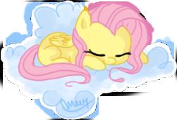 Fluttershy Sleeping by makashy