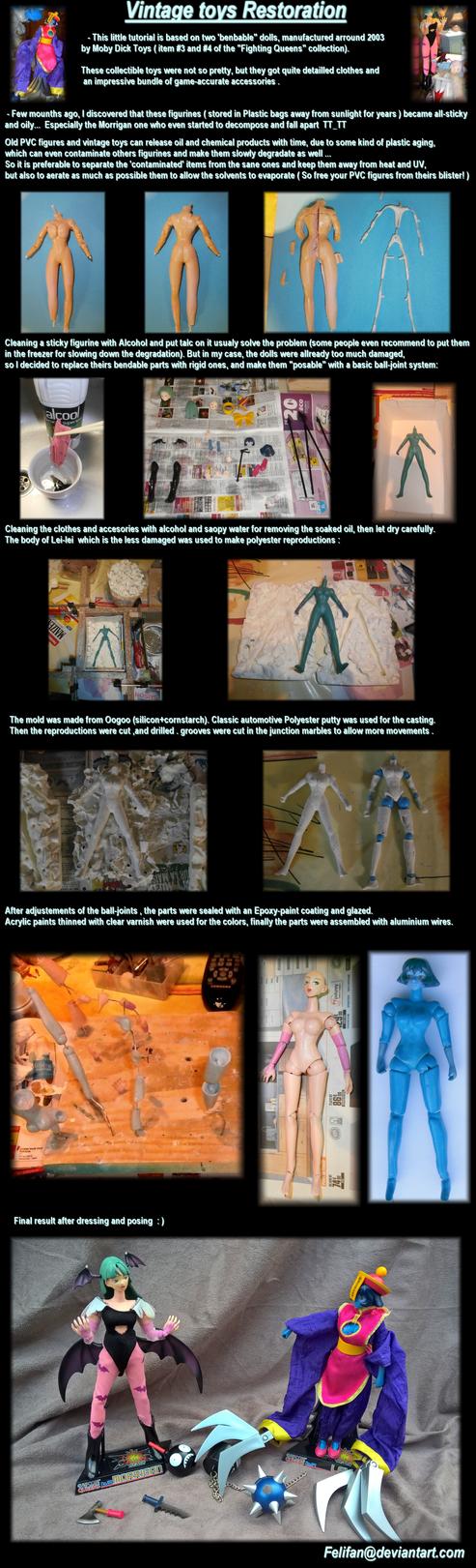 Morrigan and Lei-Lei Restoration tutorial by felifan