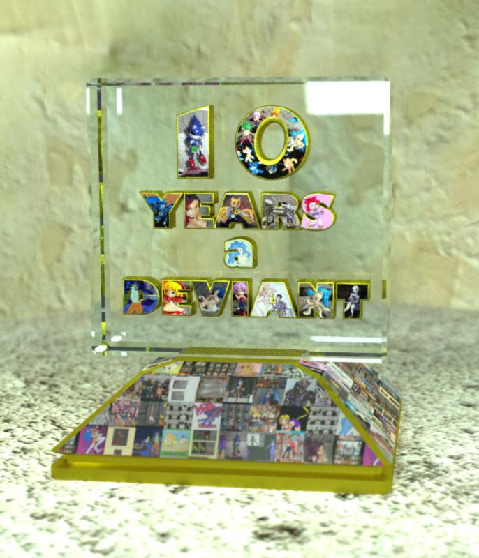 10 Years A Deviant Trophy by felifan