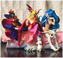 FuRyu Darkstalkers Girls by felifan
