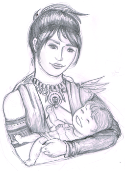 Morrigan and Baby WIP