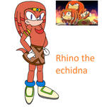 Rhino the echidna by Soneamlover