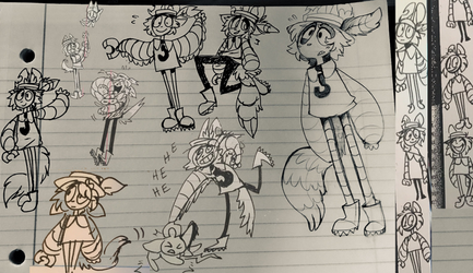 Harvey Doodles from my school notes