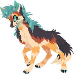 Lineless fullbody commission for yellow-k9