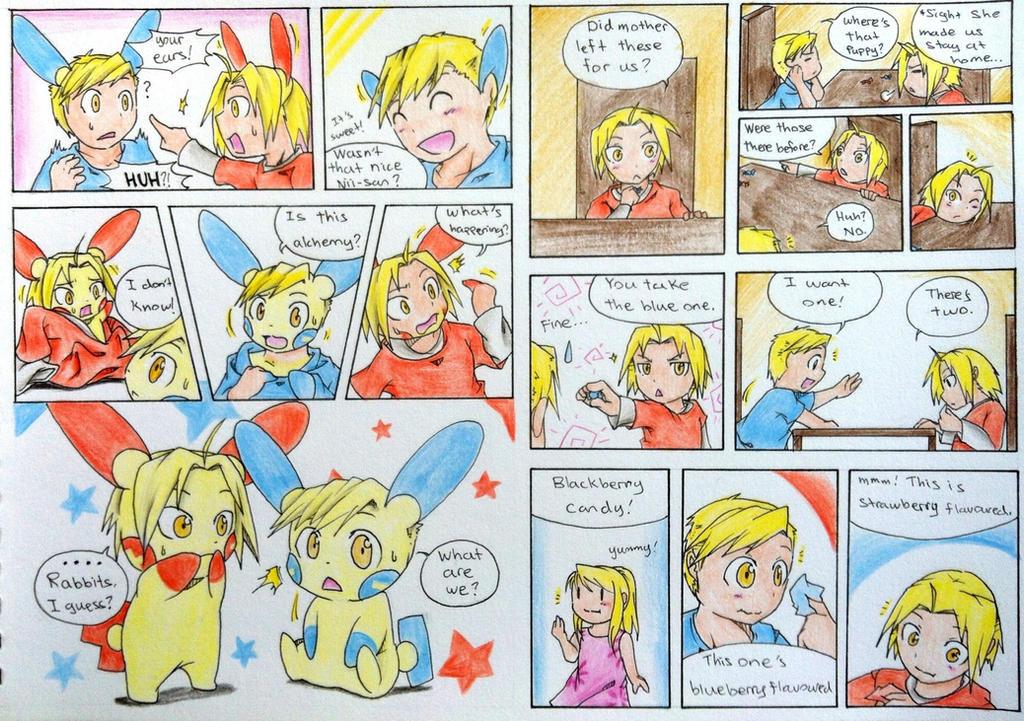 Elric brothers Pokemon TF (Part 1) by FezMangaka on