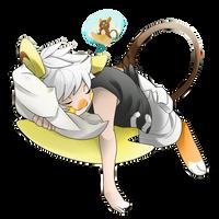 Sleepy TF: Noah's Alolan Raichu TF by FezMangaka