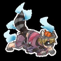 Commission- Shulk's Raccoon TF by FezMangaka