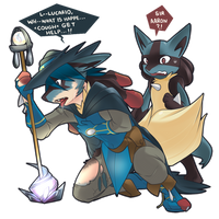 New Beginning: Sir Aaron's Mega Lucario TF