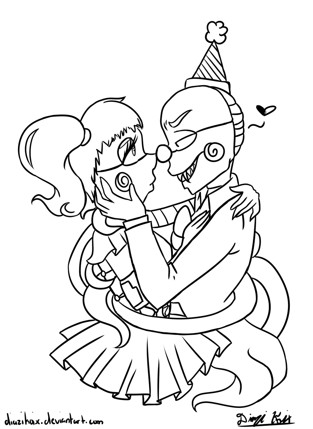 Ennard X Baby Coloring Page by DiaziKoix on DeviantArt