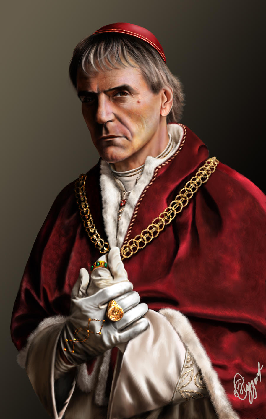 Jeremy Irons as Rodrigo Borgia by kserx