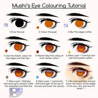 Eye Colouring Tutorial by Mushi by MuiMushi