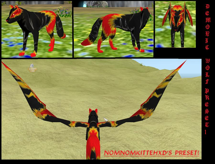 Demonic Wolf Preset by HoneyHeartStudios