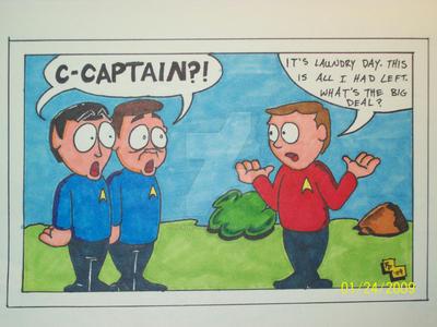 Captain Redshirt by Nerdatheart
