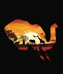 Sunset in Safari by dandingeroz