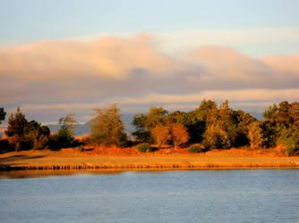 Shoreline Lake at Sunset