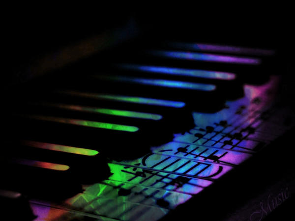 Rainbow Piano Keys Wallpaper