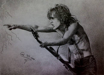Angus Young by GoldenYears