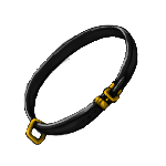 Simple Collar- Black by ReapersMenagerie