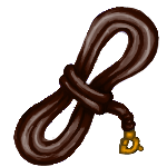 Simple Lead Rope: Brown by ReapersMenagerie