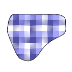 Simple Saddle Cloth - Plaid by ReapersMenagerie