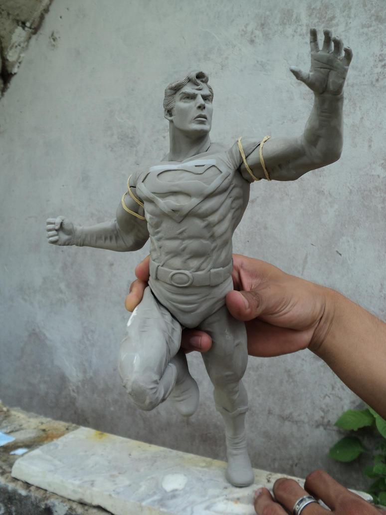 Superman In Sculpey W I P 002 By Fealforma On Deviantart