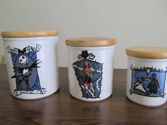 Nightmare Before Christmas' Kitchen Canister Set! by mrstafuri on ...