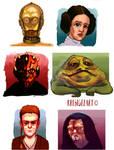 Star wars studies for 365 doodles a day challenge