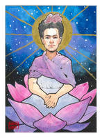 Frida Kahlo in a Lotus by crash-burn-implode