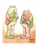 Frog and Toad enjoying bubble tea by crash-burn-implode