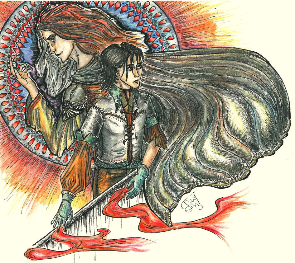 Jaquen and Arya by Grennara