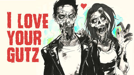 Zombie love card by Sui-leabhan