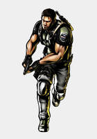 The first Bio hero:Chris Redfield by ChrisNext