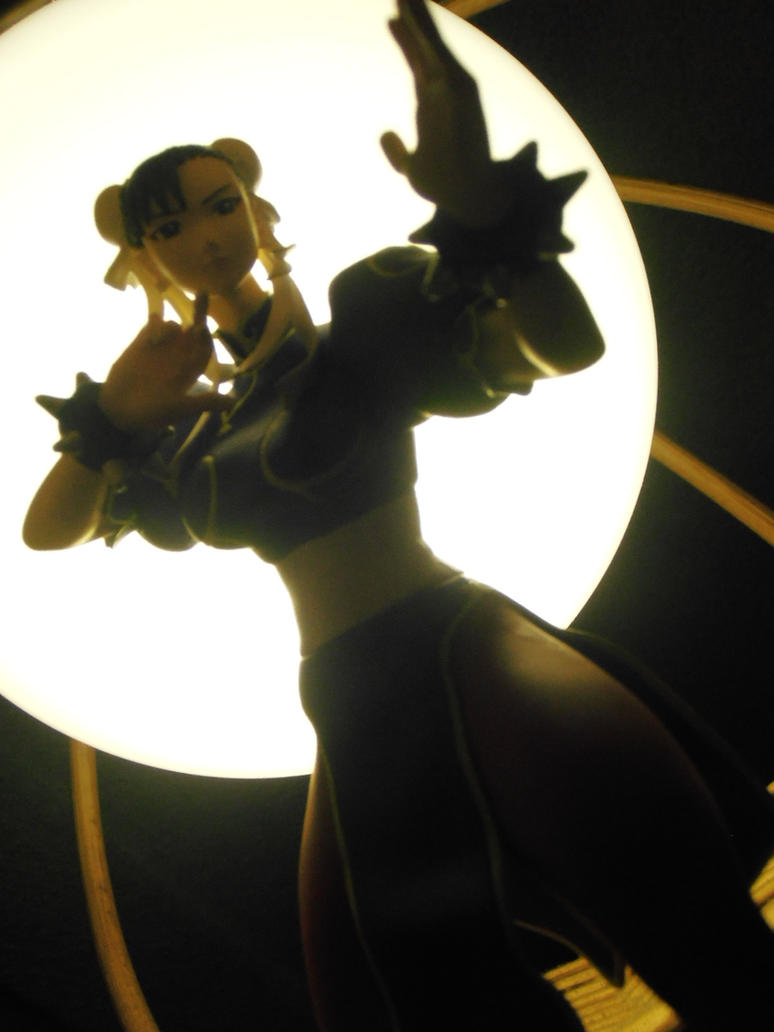 From other angle Chun Li shadow and lightning by ChrisNext