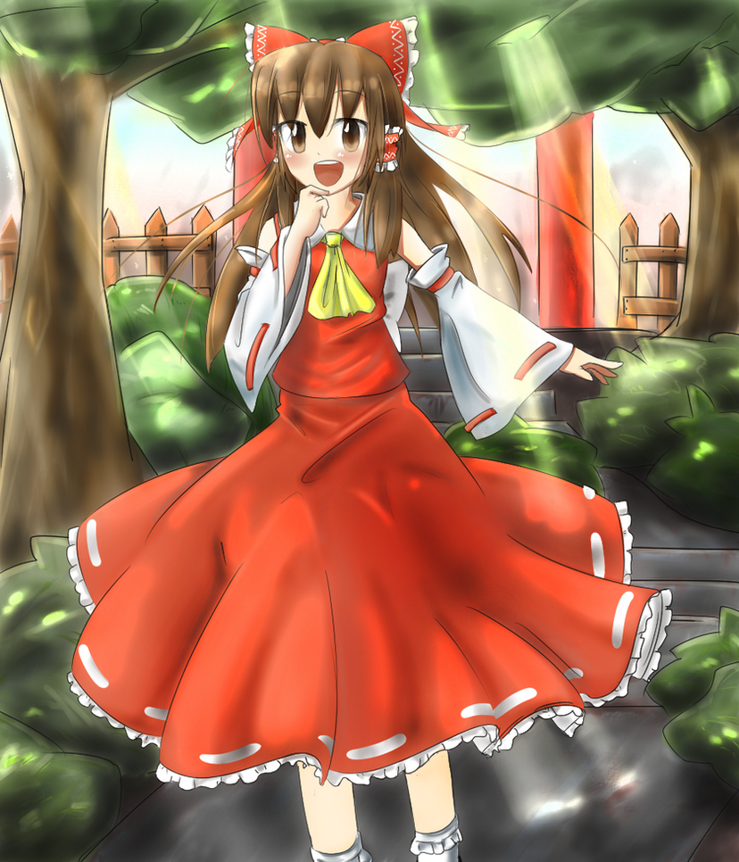 The Shrine Maiden of Paradise by Masatog