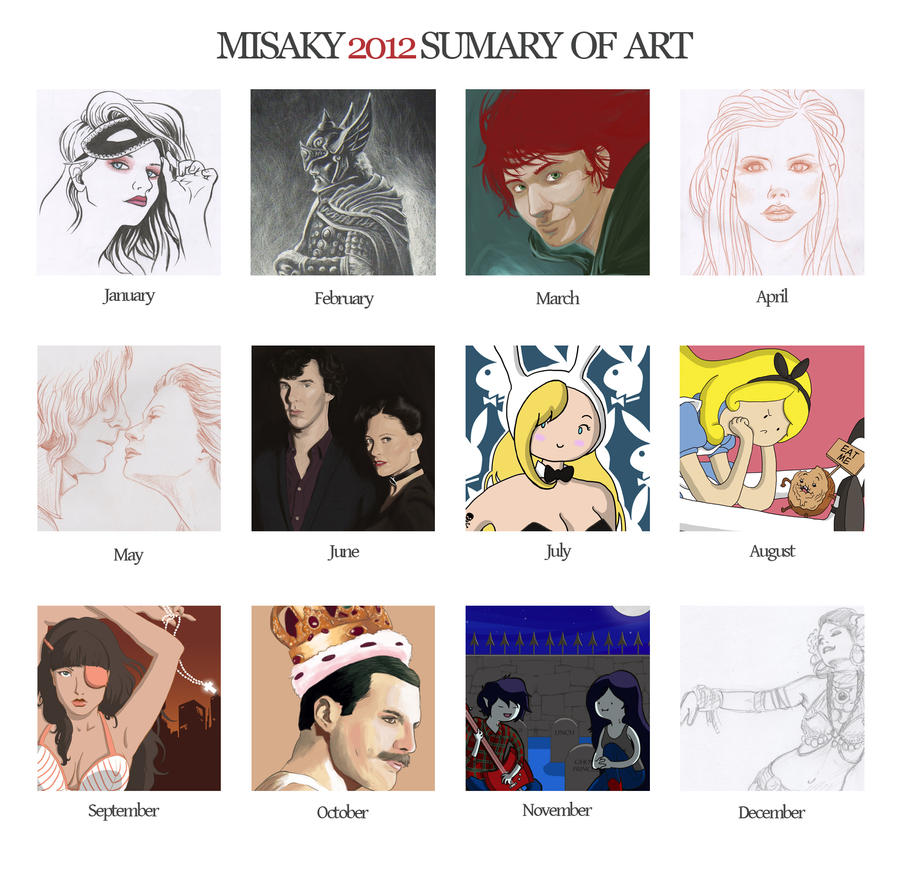 Sumary of Art 2012 by Misaky
