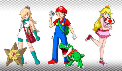 Mario + Pokemon by Misaky