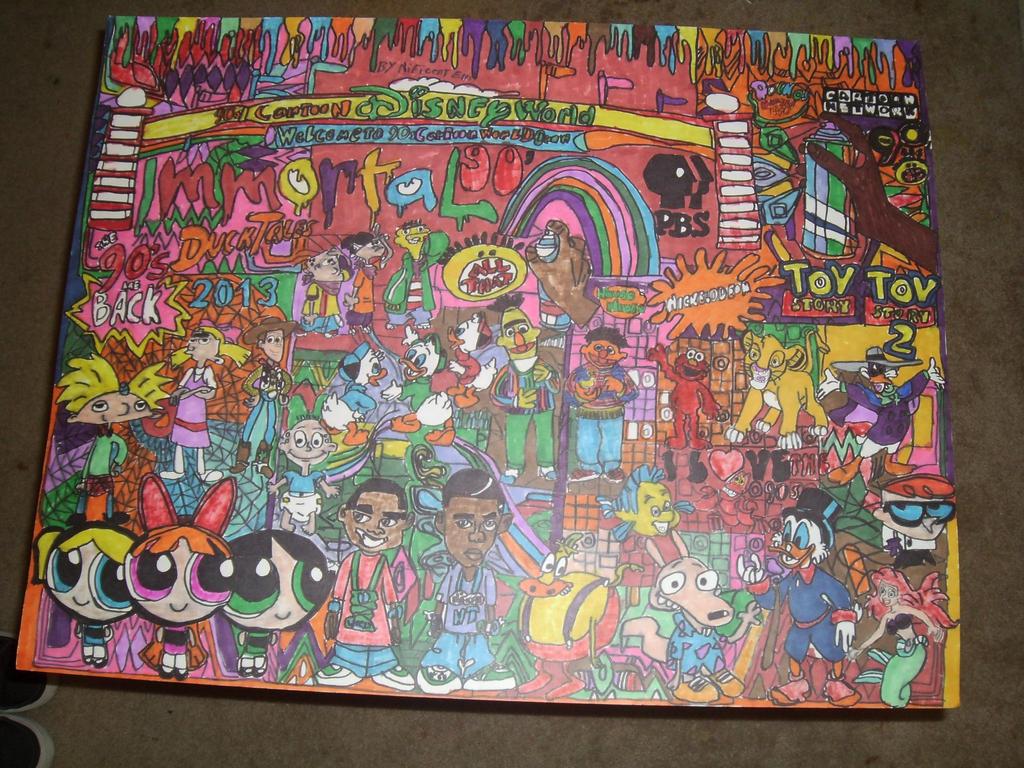 90s Classic All Stars Cartoon Immortal DrawingPt11 by NWeezyBlueStars23