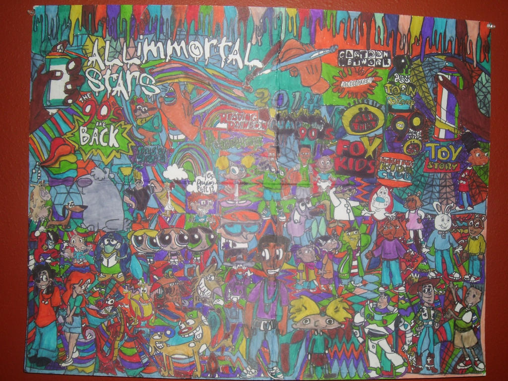 90s All Stars Immortal Drawing Part 12 by NWeezyBlueStars23