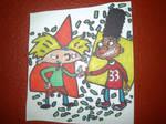 Hey Arnold Artwork Drawing by NWeezyBlueStars23