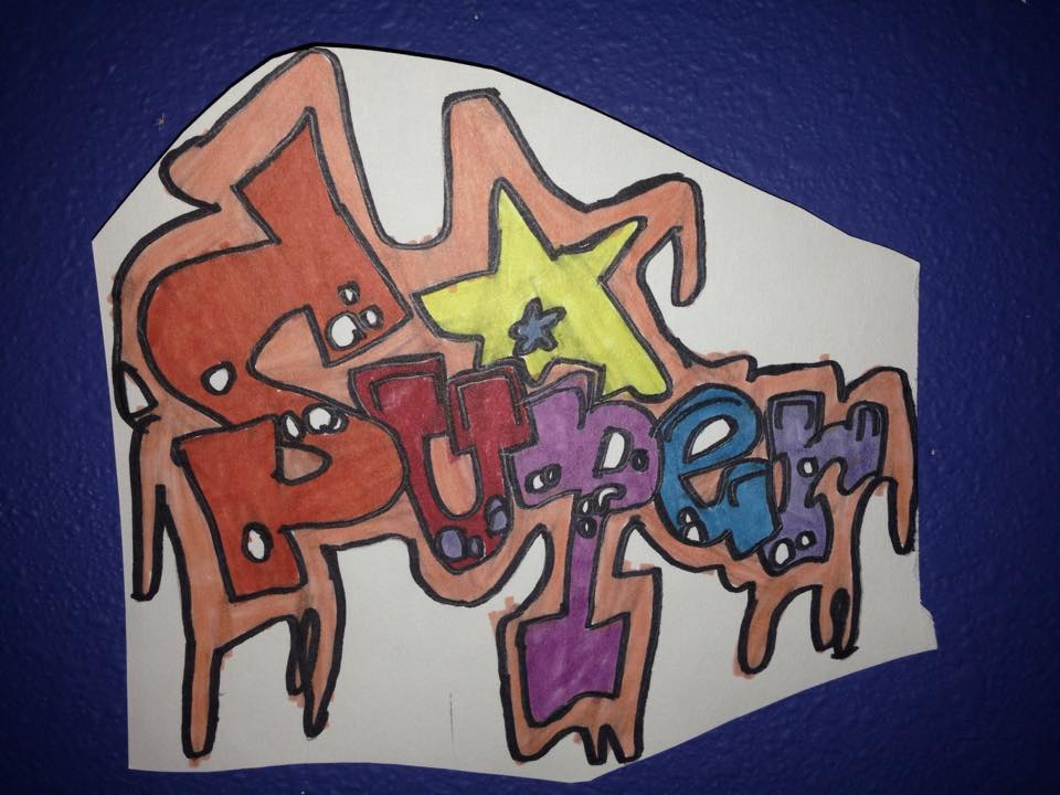 Super Graffiti Artwork Drawing by NWeezyBlueStars23