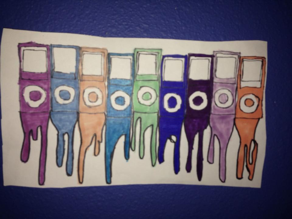 iPod Nano Drawing by NWeezyBlueStars23