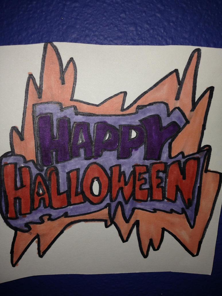Happy Halloween Artwork Drawing by NWeezyBlueStars23