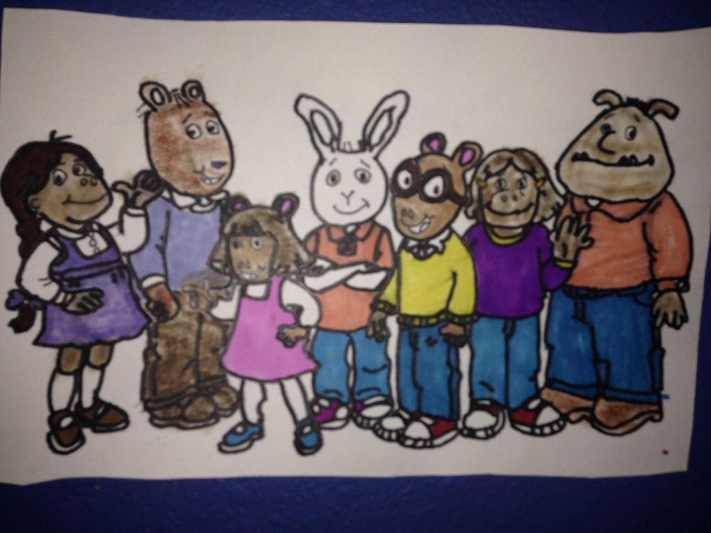 Arthur and His Friends Drawing by NWeezyBlueStars23