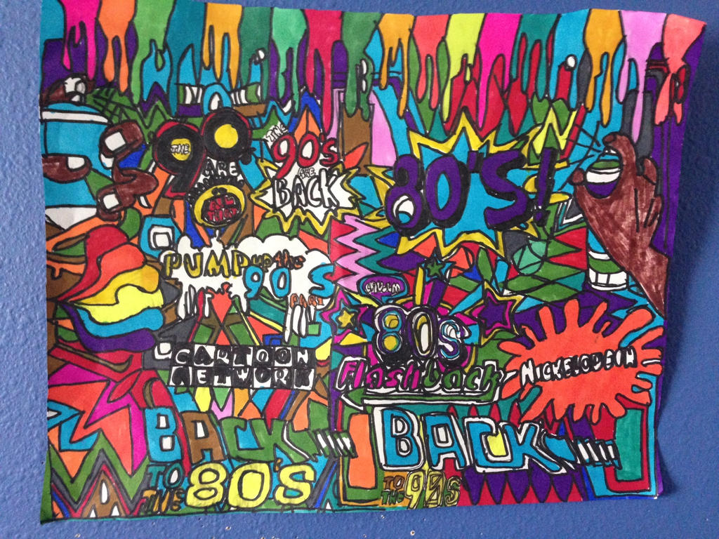 BackToThe80sThe 90s Are BackDesignDrawing Part 2 by NWeezyBlueStars23