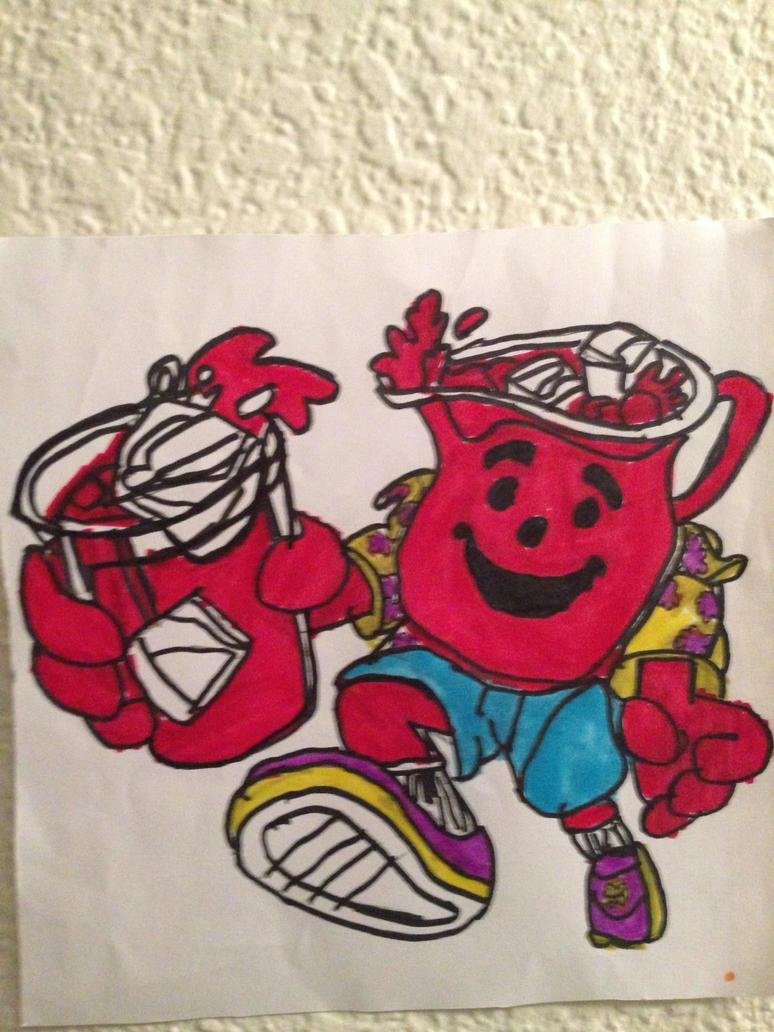 kool aid Guy Art Drawing by NWeezyBlueStars23