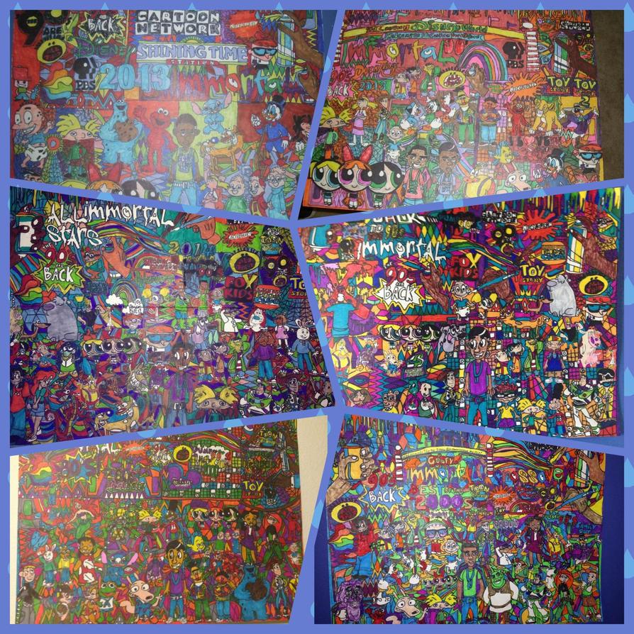 Greatest Art 90s All Stars Immortal Drawing by NWeezyBlueStars23
